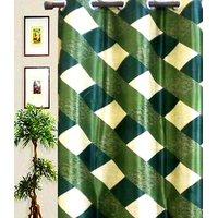 Furnix Printed Eyelet Door Curtain Green Box -1Pc