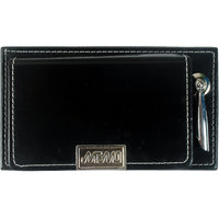 Imported MEMO PAD With Post It Slips In Faux Leather Finish With Pen Holder -M3