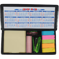 Imported MEMO PAD With Post It Slips In Faux Leather Finish With Stapler - M5