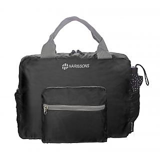 Harissons Plush Foldable Duffel Bag (Black, HBN18BLACK)