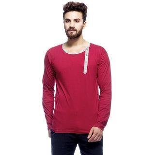 Mens Mehroon full sleeves T-shirt