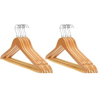 Unique Cartz Wooden Hanger Pack Of 12