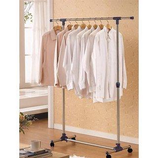 Unique Cartz Single Pole Telescopic Clothes Rack Clothes Dryer Wheels
