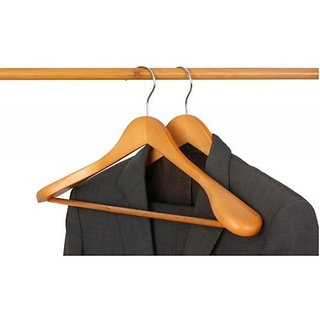 Unique Cartz Premium Wooden Suite Coat Hanger Pack Of 4