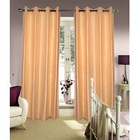 Furnix Plain Eyelet Long Door Curtain (4x9 Feet)  D.No. 1027-2Pc