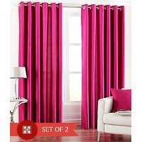 Furnix Plain Eyelet Long Door Curtain (4x9 Feet)  D.No. 1022 - 2Pc