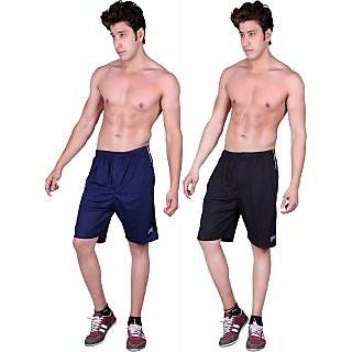Dinnar fashion black gym shorts set of 2