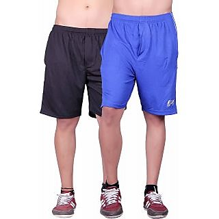 Dinnar fashion Black blue gym shorts set of 2