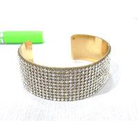 Golden White Stone Kada Bracelet