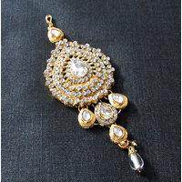 Party Wear Golden Kundan Passa Tikka