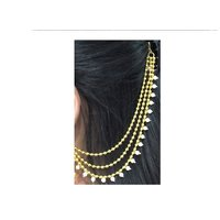 Golden and Pearl Layer Ear Chain