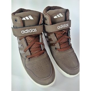 Adidas High Ankle Basketball Sneakers DARK BROWN