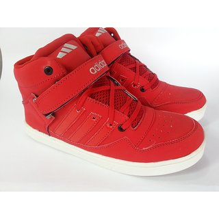 Adidas High Ankle Basketball Sneakers Passion Red