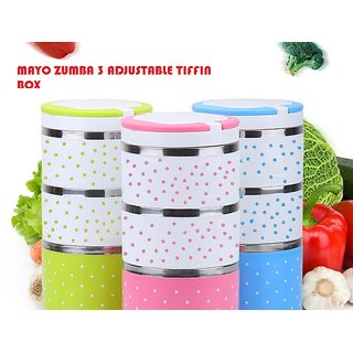 MAYO ZUMBA 3 ADJUSTABLE TIFFIN SET / LUNCH BOX SET