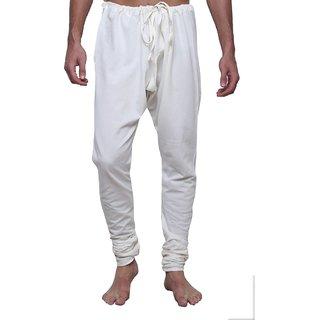 Dhrohar Creame Cotton Churidaar Pyjama for Men
