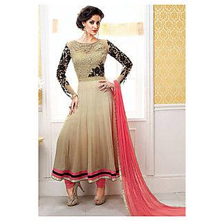 Salwar Soul Designer Beige Georgette Embroidery Anarkali Suits