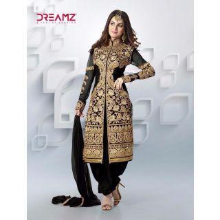Salwar Soul Designer Black Net Embroidery Salwar Suits