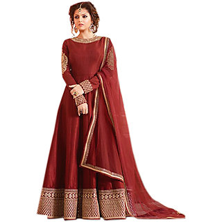 Salwar Soul Red COLOR LATEST INDIAN DESIGNER ANARKALI SALWAR KAMEEZ DRESS