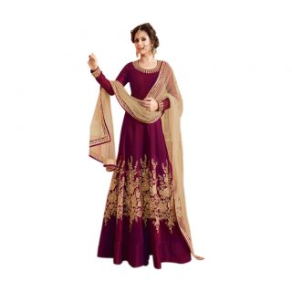Salwar Soul LATEST INDIAN DESIGNER Purple COLOUR ANARKALI DRESS