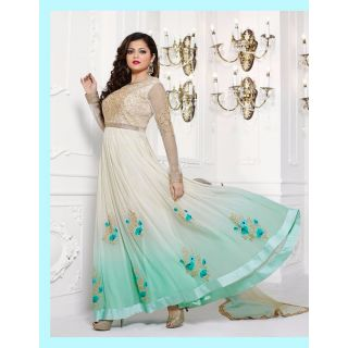Salwar Soul Designer Green georgette Embroidery Bollywood Suits