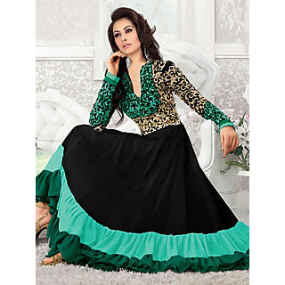Salwar Soul Designer Black georgette Embroidery Dress