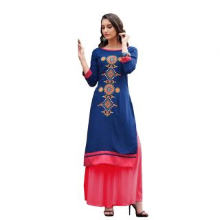 Salwar Soul Blue & Pink Suit plazo suits for women party wear stitched For Girls For Specail Uses In wedding