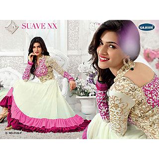 Salwar Soul Designer White georgette Embroidery Dress Materials