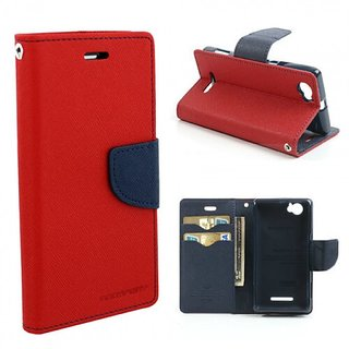 Samsung J7 Mercury Goospery Stand Flip Dairy Cover Case (RED/BLUE)