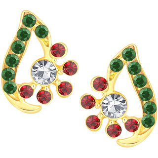 Shostopper Pleasing Gold Plated Australian Diamond Earring