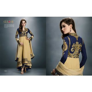 Salwar Soul Designer Beige Georgette Embroidery Bollywood Suits