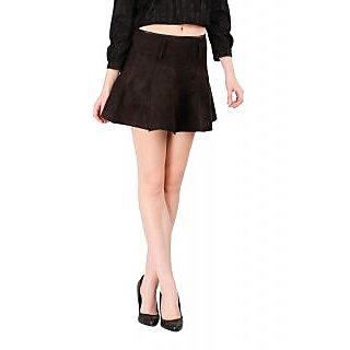 Remanika A-line Brown Plain Women's Skirt