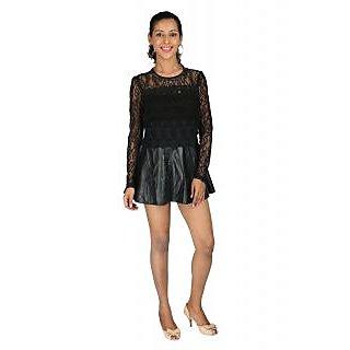 Remanika Shift Black Embroidered Women's Dress