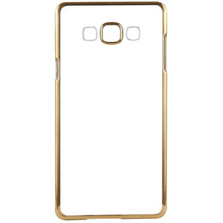 Samsung Galaxy Grand Prime SM-G530H Back Cover TRANSPARENT WITH GOLD BORDER