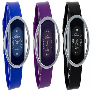 Glory  combo of Three  Womens Watches by Unique Enterprise