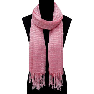 URBAN TRENDZ - Viscose Dobby Solid dyed fancy Scarf with twisted fringes. (Style no  UT1385PSCF)