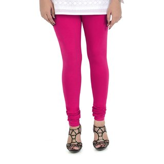 Cotton Churidar Leggings in Fuchsia Color