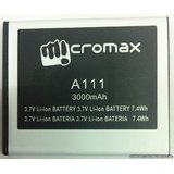 Micromax A111 Battery 3.7v 3000 Mah For Micromax A111
