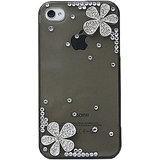 Kolorfish Diamond Flower Back Case For IPhone 4/4S (BLACK)