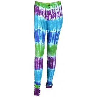 SUNDARAM Girls Cotton Leggings (SACTD0028 Multi-Coloured)