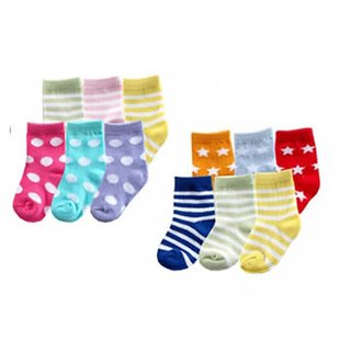 Combo of 6 Pair Baby Boy/Girl Soft Touch Rich Socks