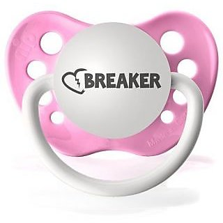 Personalized Pacifiers Heartbreaker in Light Pink