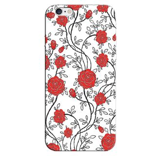 RED COLORFUL PATTERN  BACK COVER FOR NEW IPHONE 6
