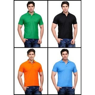 Air Pack Of 4 In Style Men's Polo T-Shirts
