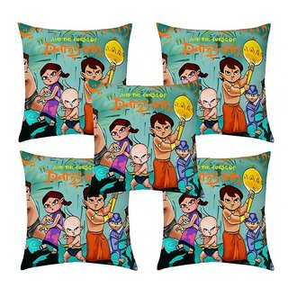 Home Diva Multicolor Polyester Digital print Cushion Covers Set of 5- (HDCC032)