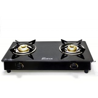 Start Season Sale!! Upto 80% Off On Home Appliances By Shopclues   Fabiano FabSurya - 2 Burner 7mm Toughened Glasstop Gas cooktop @ Rs.999