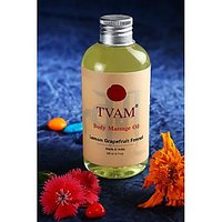 Tvam Natural Massage Oil- Lemon Grapefruit & Fennel (Option 2)