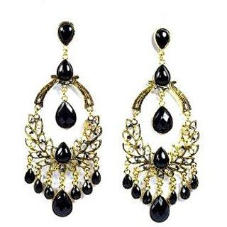 Eden Overseas Designer Long Black  Dangler Earring