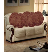 Hard Rock Set Of 5 Attractive Circle Rose Design Cushion Cover-brown