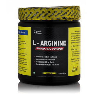 HealthVit L-Arginine Amino Acid Powder- 200gm