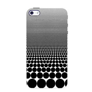 Stubborne Black Dot Pattern 3D Printed Apple Iphone 4 Back Cover / Case